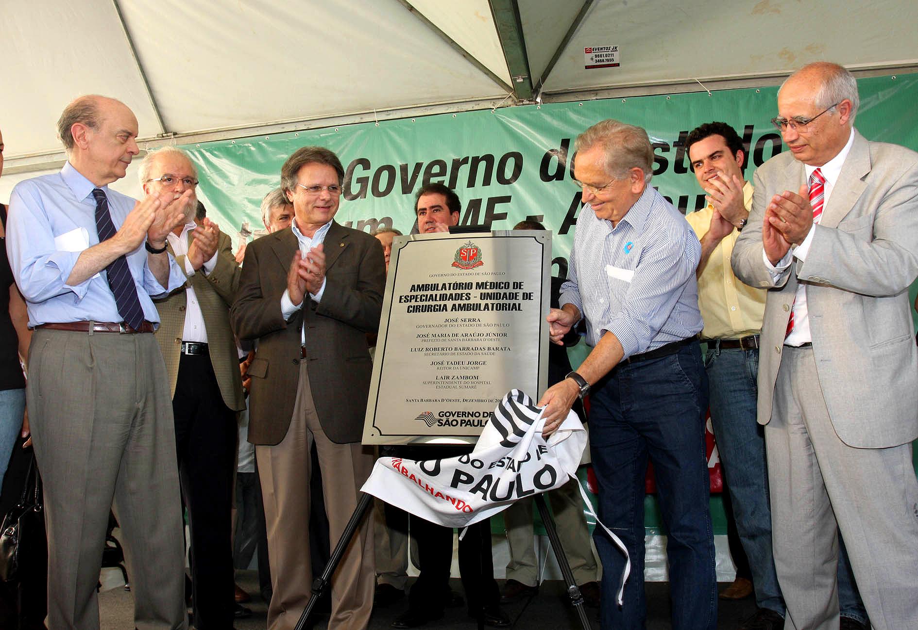 O governador José Serra inaugura  AME Sta Barbara Data: 08/12/2008 Local: Santa Barbara do Oeste Foto: Ciete Silvério/Governo do Estado de SP